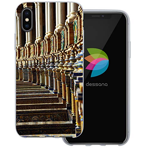 dessana Sevilla Spanien transparente Schutzhülle Handy Case Cover Tasche für Apple iPhone X Sevilla Piazza Piazza Apple