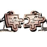 Schlüsselanhänger Puzzle aus Holz - vorgraviert mit: Ein Leben lang.