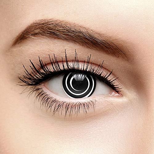 Halloween Farbige Kontaktlinsen Ohne Stärke Spirale Schwarz (90 Tage)