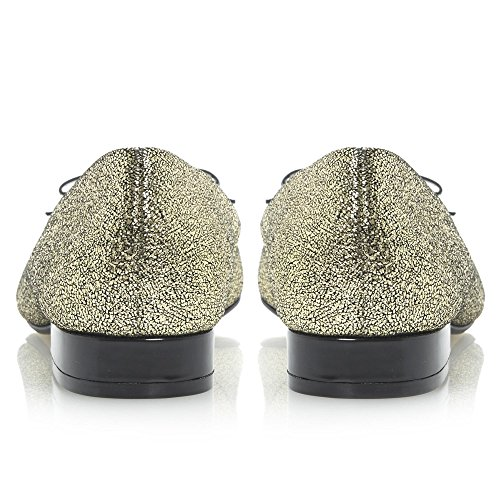 Dune MYSTIC métallique pour femme Nœud à Chaussures-Ballerine-Métal Doré Métallique - Gold-Metalic
