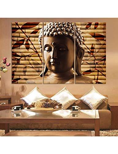 HLKJ Icono De Buda Religioso Diamante Pintura Punto De Cruz Retrato Mosaico Completo Diamante Bordado Cuadrado Rhinestone Bordado 30x55cmx3