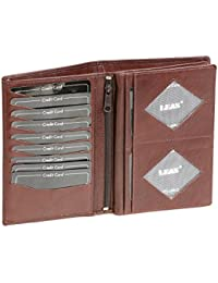 Brieftasche LEAS in Echt-Leder, dunkelbraun - ''LEAS Special Edition''
