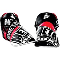 Metal Boxe Full Leger Protege Patas Competition Mixta, Color Negro/Blanco/Rojo, tamaño Medium
