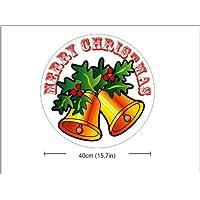 N1162 Ronda Feliz Navidad, Navidad Belces del vintage, Etiqueta ø 400 mm. Decoración