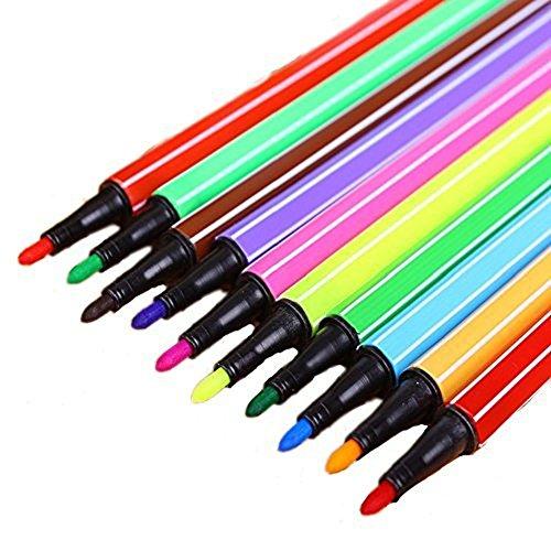 Hosaire 36 Farben Stifte Abwaschbar Art Marker Watercolor feine Spitze Stift für Secret von Garten