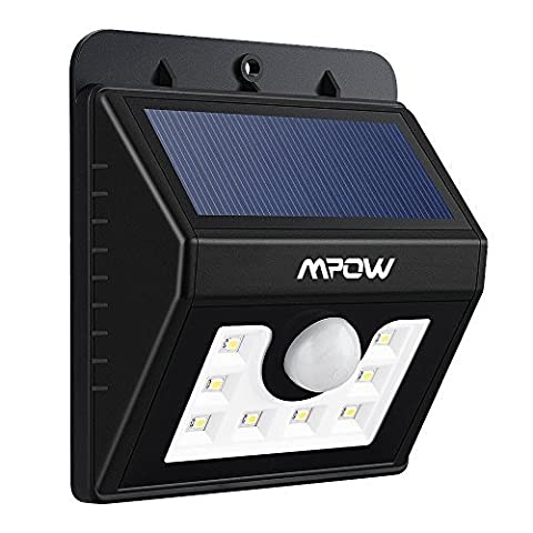 Mpow Solar Lights Motion Sensor Security Lights 3-in-1 Waterproof Solar Powered Lights Outdoor Lights for Garden, Fence, Patio, Yard, Walkway, Driveway, Stairs, Outside Wall etc. (3 Intelligient Modes, 8 LED) - Giardinaggio