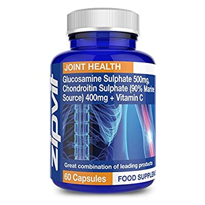 Glucosamine 500mg and Chondroitin 400mg, Pack of 60 Capsules, by Zipvit Vitamins Minerals & Supplements from Zipvit