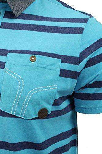 Smith and Jones Herren Poloshirt, Gestreift Blau Blau One size Blue Atol