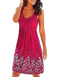 Sommerkleid Damen Kleider Sommer Kleid Knielang Trägerkleid Strandkleider  Sommerkleider 215f0cad77