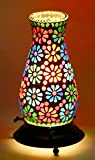 #8: Mejilla Antique Look Decorative Tumbler Shaped Mosaic Table Lamp / Light Lamp / Night lamp/ Fancy light / Lamp Shade / Vintage Light / For Drawing Room / Dining Area / Bedroom / Party Decoration / Bedside (Size- 13 x 13 x 22 cm) BE130