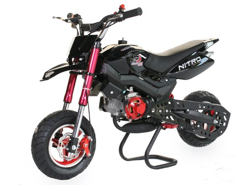 Dirtbike 49cc Hobbit Sport Pocketbike Crossbike Kinderbike Schwarz