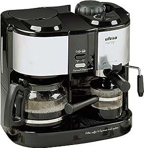 Ufesa cK7350 dueto-machine à café, noir, gris, 2l, 15 bar, 1,08 m 50 hz, 3,59 kg)