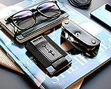 """Jaimie Jacobs ® """"Nano Boy"""" Mini Wallet, Kreditkartenetui, Mini Geldbörse aus Textil, kleiner Geldbeutel, Kartenhalter, Mini-Portmonee für Herren und Damen (Schwarz) - 8"""