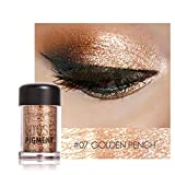 SMILEQ Sexy 12 Colors Shimmer Eyeshadow Earth Palette Makeup Pearl Metallic Powder Lasting Natural (G)