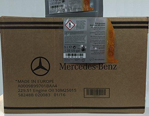 Originale Mercedes-Benz Huile à Moteur 5W-30 MB 229.51, de 10 l (2 x 5 l), A0009899701