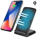 QI Ladegerät für iPhone X, Kabelloses Schnellladegerät für iPhone8 Induktive Ladestation Samsung Note 8 s8 s8 plus s7 s7 s6 Drahtlose Fast Wireless Charger iPhone 8 Plus und Alle Qi-Enabled Geräte