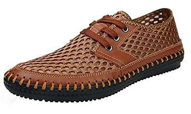 DPD Men's Casual Poseidon maille Walking Shoes Chaussures d'eau - Marron - Marron clair,