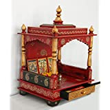 LifeEstyle-com Handpainted wooden Home Folding temple