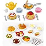Sylvanian Families - 2 Play Food Sets Together - Lunch Set & Fluffy Pancake Sets by Sylvanian Families