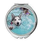 Yanteng Spiegel, Compact Spiegel, Hund Tier Haustier Spaziergang Schäfer Dog Bridge Freizeit, Taschenspiegel, Tragbare Spiegel