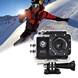 UxradG Wasserdichte Sport-Kamera, Wifi Action Kamera Full HD 1080P 30Meter Wasserdicht Cam 5,1cm LCD Bildschirm 98ft Underwater 170° Weitwinkel Sport Kamera, Akkus und Portable Paket, Silbergrau