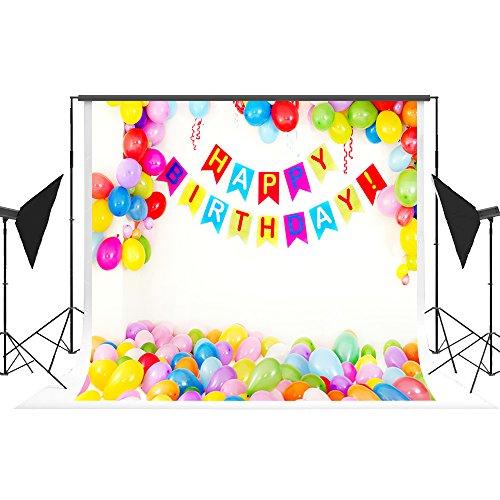 Geburtstag Foto Hintergrund Kinder Ballon Hintergrund Requisiten für Happy Birthday Party Dekoration Fond Studio Kate 7 x 5 ft /2,2 x 1,5 m