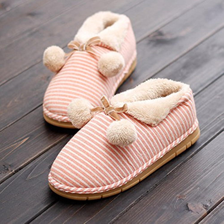 Y-Hui en mobiliario de hogar calzado femenino en el otoño y el invierno cálido interior inferior grueso Anti-Skid...