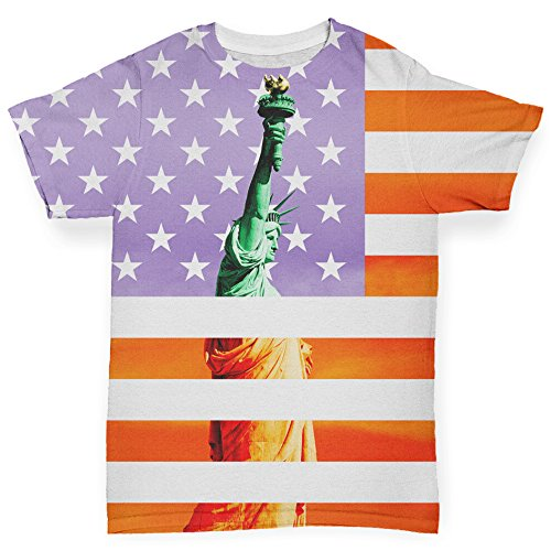 TWISTED ENVY Baby Mädchen (0-24 Monate) Body Gr. 3-6 Monate, weiß - Big Apple Baby T-shirt