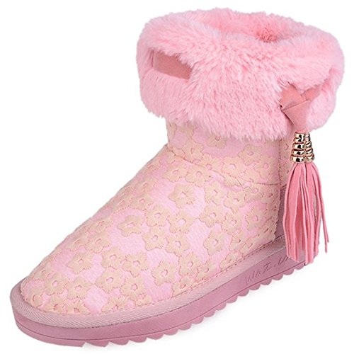 Sintetica Scarpe Hsxz Boots Pu Inverno Donna Comfort Snow Pelliccia nXxpqdax