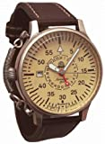 Retro Uhr mit Linksbedienung und Automatik Werk 24h Anzeige Modell A1394