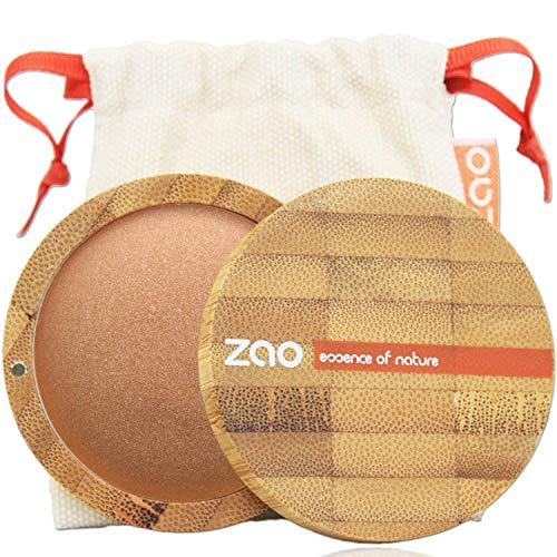 ZAO Mineral Cooked Powder 341 kupfergold Bronzer Bräunungspuder schimmernd, in nachfüllbarer Bambus-Dose (bio, Ecocert, Cosmebio, Naturkosmetik) -