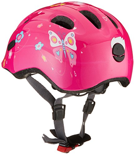Abus Mädchen Smiley 2.0 Fahrradhelm, Pink Butterfly, 50-55 cm - 2