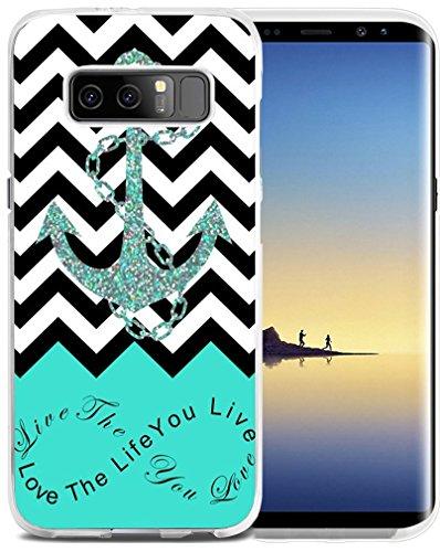Note 8Schutzhülle Wolf-cclot für Samsung Galaxy Note 8Cover schützende Hand Malerei Wolf Tier Design (TPU Silikon Schutz Hülle) A44 (Tier Schützende)