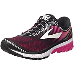 Brooks Ghost 10, Scarpe da Running Donna, (Blackpinkpeacocklivingcoral 1b067), 38 EU