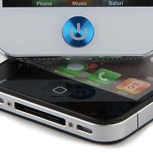 Autocollant Sticker Bouton Home Aluminium Bleu Pr iPhone 4 4s 5
