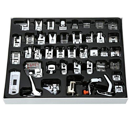 Wokee Praktisches Nähset,48PCS inländische Nähmaschine Fuß Presser Füße Set Nähzubehör für jede Angelegenheit (A) -