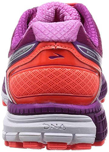 Brooks Ghost 8 W, Chaussures de Running Compétition Femme Multicolore - mehrfarbig (Phlox/Phlox Pink/Fiery Coral)