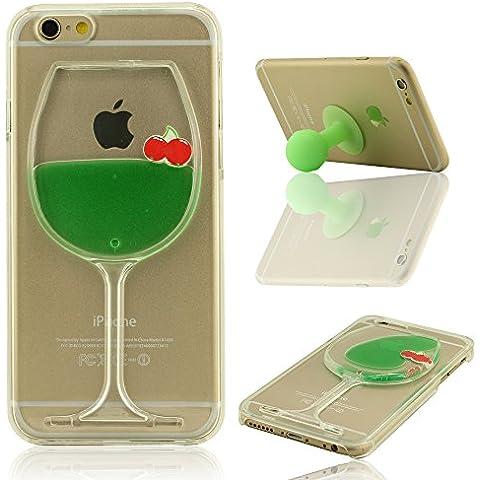 iPhone 6 Plus Case Cover, iPhone 6S Plus Funda Carcasa (5.5 Pulgada) + Silicona Soporte de Apoyo, Frutas y Vistoso Líquido Estilo, Equisite Copa Modelado, Dura Transparente Delgado & Light (No incluya iPhone 6 4.7