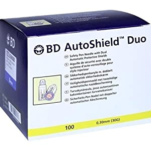 Becton Dickinson BD AUTOSHIELD Duo Sicherheits Pen Nadel 8 mm, 1er Pack (1 x 500 g)
