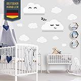 Stickers Muraux, nuages, autocollant adapté à IKEA RIBBA/MOSSLANDA étagère murale, autocollants muraux, autocollants de papier peint pour collage, décoration murale pour tout-petits (blanc)