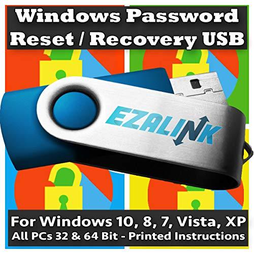 Windows Passwort-Reset Recovery USB für Windows 10, 8.1, 7, Vista, XP, #1 Best Unlocker Software Tool {Für jeden PC Computer}
