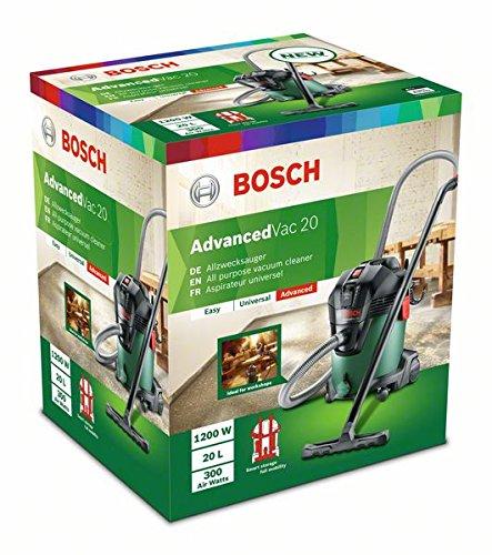 Bosch Nass- und Trockensauger AdvancedVac 20 (1200 Watt, 20 Liter Behältervolumen, in Karton)