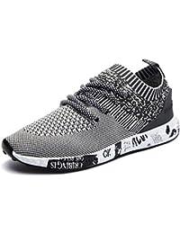 IIIIS-T Botas Zapatillas de Deporte Zapatos Deportivos de Los Planos Atléticas Ocasionales de La Malla Respirable Del Verano de Las Hombre