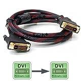 Zac Tech 1.5 Meter Passive Cable DVI-D 24+1 Dual Link to DVI-D 24+1 Dual Link Converter Cable for HDTV TV Box DVD Projec