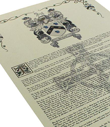 Kerr Coat of Arms, Family Crest and Name History - Celebration Scroll 11x17 Portrait - Wales Origin