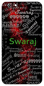 Swaraj (Liberty, Freedom) Name & Sign Printed All over customize & Personalized!! Protective back cover for your Smart Phone : Micromax Canvas Hue 2 A316