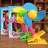 Ventilateurs électriques Fan_Clip Ventilateurs électriques pour Bébé Poussette, Rose