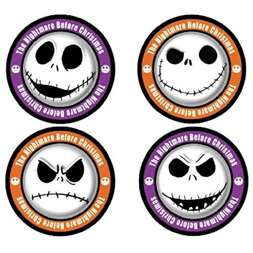 Nightmare before Christmas Jack Skellington 4-Piece Coaster Set, One Size, Multicolor (Party Before Christmas Supplies Nightmare)