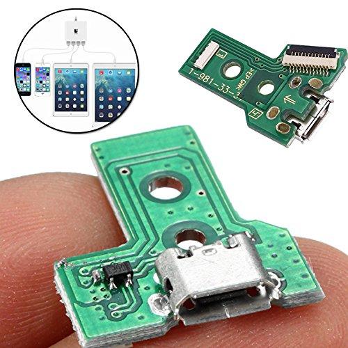 Cewaal La tarjeta de conexi/ón de puerto de carga micro USB de 12 pines reemplaza para JDS-040 PS4 Controller Parts