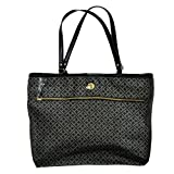 Tommy Hilfiger Purse Handbag Signature Logo Tote Black/Charcoal